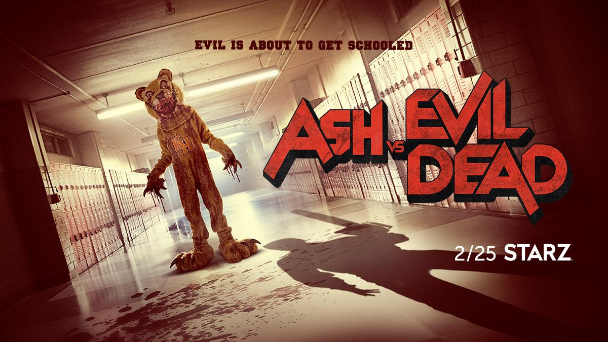 ash vs evild dead, horror, starz, bruce campbell