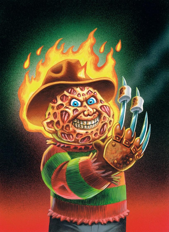 garbage pail kids, Freddy Krueger, topps