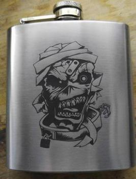 horror flasks, scary basement media, artist, first line survival
