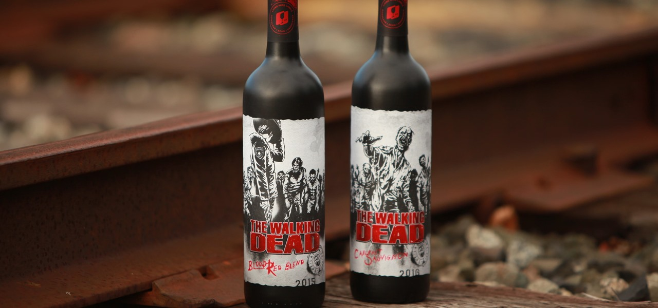 the walking dead, wine, augmented reality