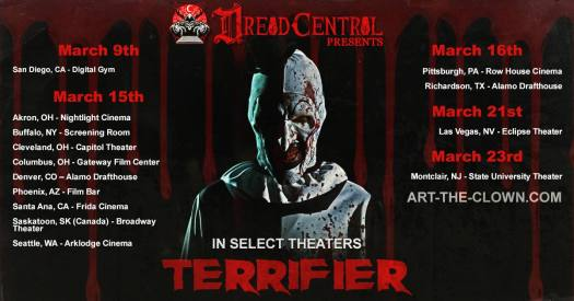 dread central presents, terrifier, movie, horror, clown
