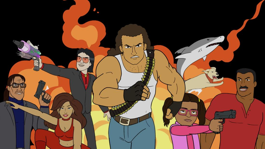 el rey network, explosion jones, cartoon, premier, michael madsen