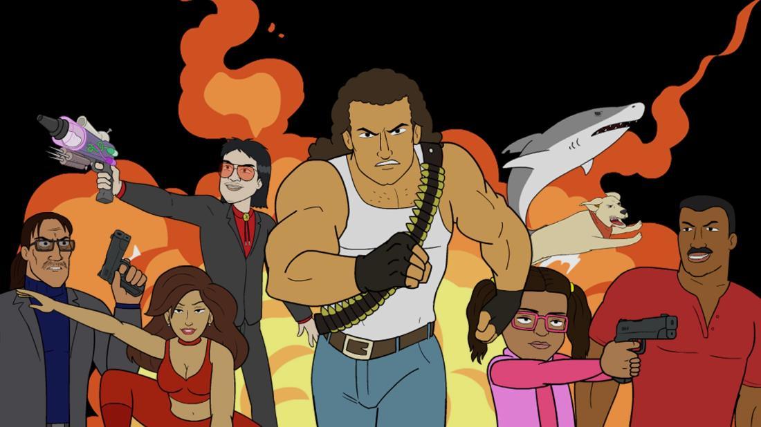 el rey network, explosion jones, cartoon, premier, michael madsen