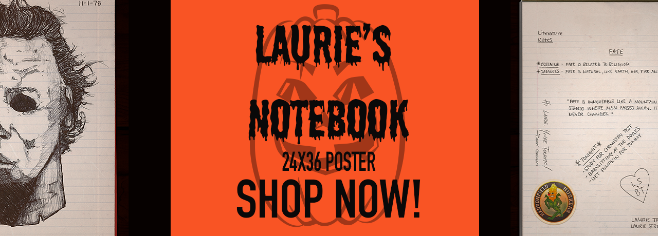 halloween, laurie's notebook, michael myers, poster