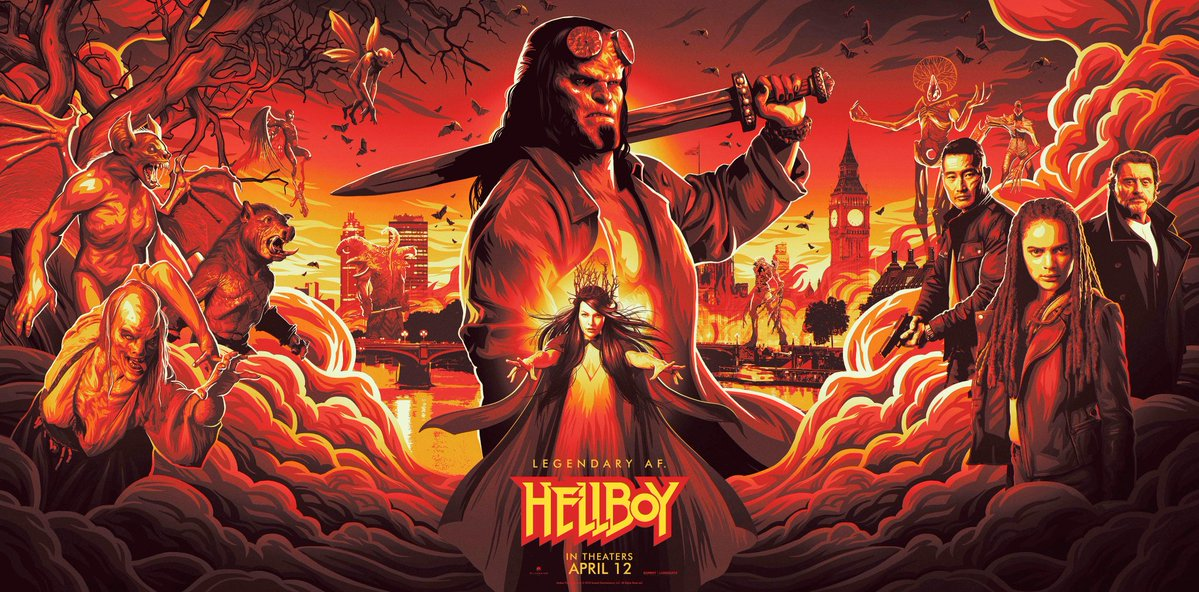 hellboy, poster, movie, trailer, horror, david harbour