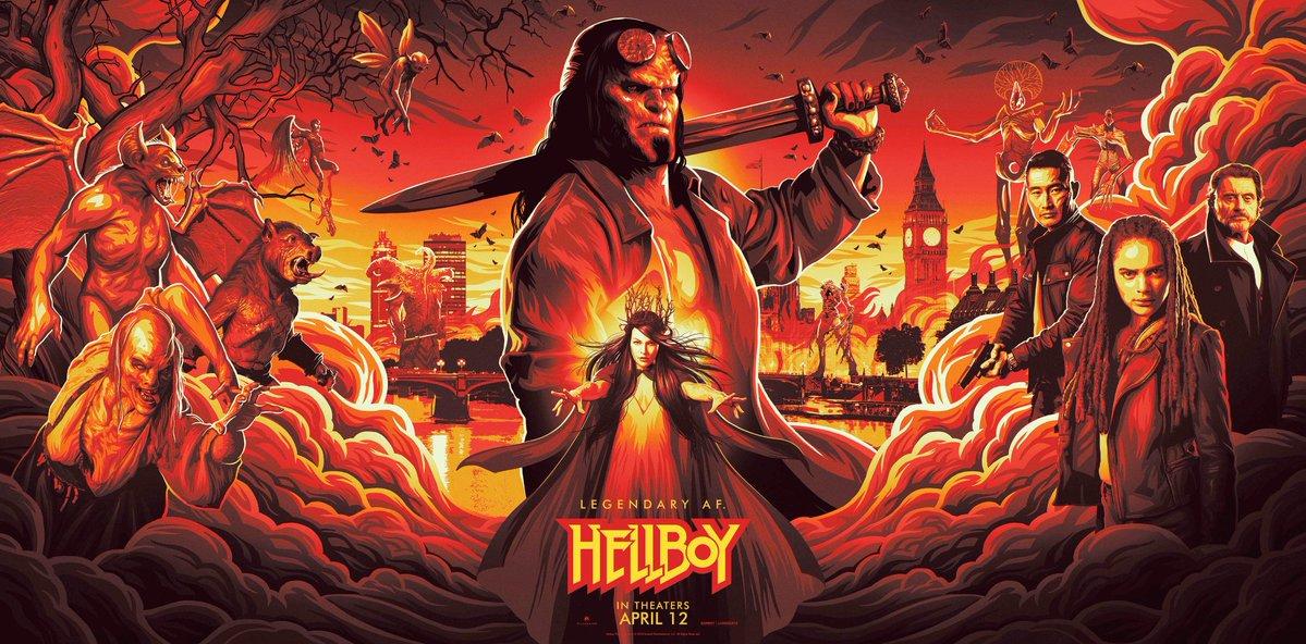 hellboy, poster, movie, trailer, horror, david harbour