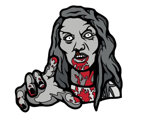 zombie, horror, enamel pin, night of the living dead, horror movies