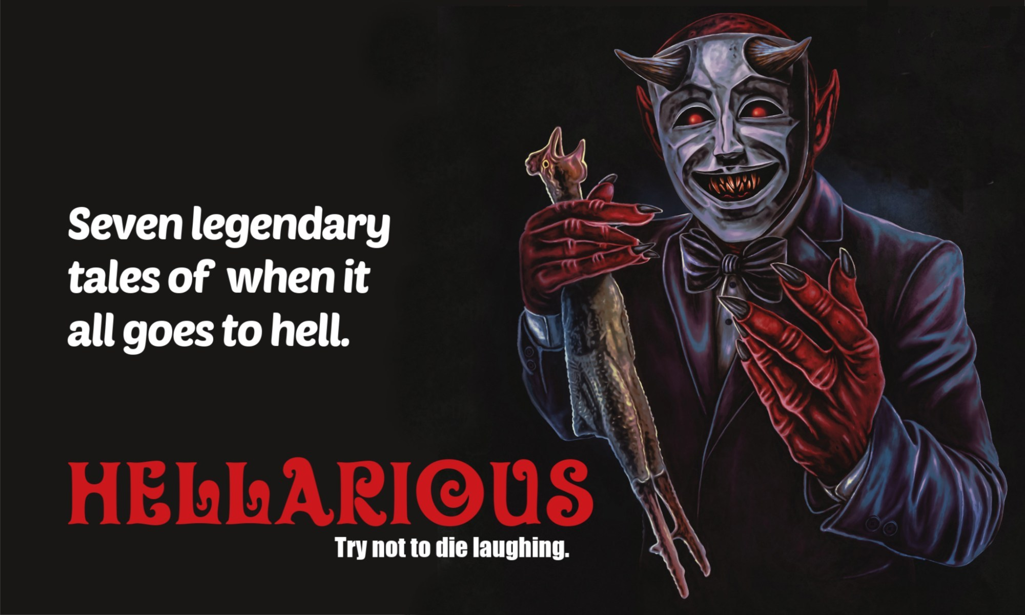 hellarious, horror, comedy, death metal, lunch ladies, werewolves, anthology, review